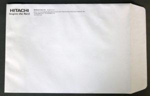 Hitachi Philippines Catalog Envelope