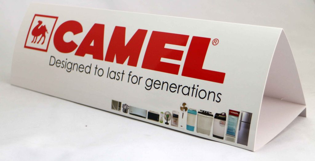 Camel Appliances Tent Cards