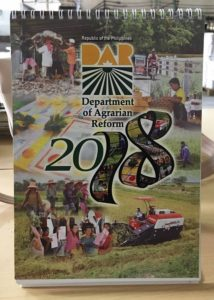 Department of Agrarian Reform Desk Calendar