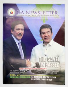 Commission on Appointments Newsletter #vjgraphicsoffsetprinitng #vjgraphics #offsetprinting #growthroughprint