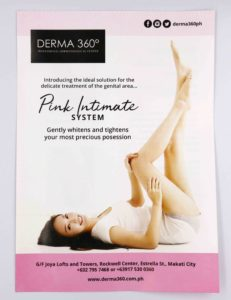 Derma 360 Pink Intimate Flyers