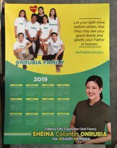 Sheina Onrubia Poster Calendar Campaign Materials #vjgraphicsoffsetprinting #vjgraphics #offsetprinting #posters #campaignmaterials