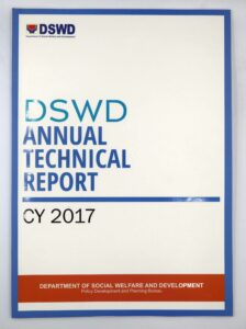 DSWD Annual Technical Report #vjgraphicsoffsetprinting #vjgraphics #offsetprinting #annualreport #growthroughprint #dswdmaymalasakit — with Department of Social Welfare and Development, DSWD Field Office Mimaropa, Dswd -Ncr, Legarda, Manila, DSWD Kalahi-CIDSS, DSWD, DSWD NCR, DSWD Region V, DSWD FO 3 and DSWD Region IV-A.