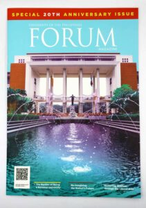 University of the Philippines FORUM Magazine #vjgraphicsprinting #growthroughprint #offsetprinting #magazine — with University of the Philippines Diliman, University of the Philippines and University of the Philippines Los Baños