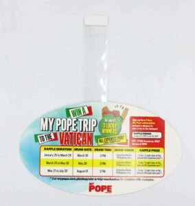 MyPope Wobblers #vjgraphicsprinting #offsetprinting #growthroughprint #wobblers