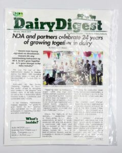 National Dairy Authority Dairy Digest Newsletter #vjgraphicsprinting #offsetprinting #newsletter #growthroughprint — with National Dairy Authority