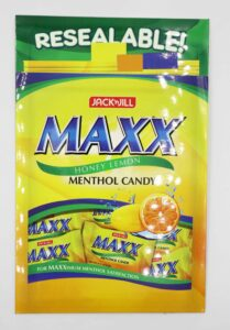 URC Jack'nJill Maxx Menthol Candy Trade Brochure #vjgraphicsprinting #growthroughprint #offsetprinting #tradebrochure #saleskit — with Jack 'n Jill Treats and Maxx