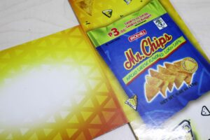 URC Mr. Chips Shelf Fins #vjgraphicsprinting #offsetprinting #growthroughprint #shelffins — with Mr. Chips