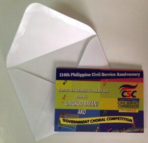 Civil Service Commission Invitation #vjgraphicsprinting #growthroughprint #invitations #offsetprinting