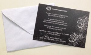 Thomson Reuters Invitation #vjgraphicsprinting #growthroughprint #invitations #offsetprinting