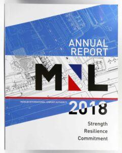 Manila International Airport Authority 2018 Annual Report #vjgraphicsprinting #offsetprinting #annualreport #growthroughprint — with Ninoy Aquino International Airport MIAA