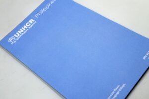 UNHCR Notepad #vjgraphicsprinting #offsetprinting #growthroughprint #notepad — with UNHCR Philippines