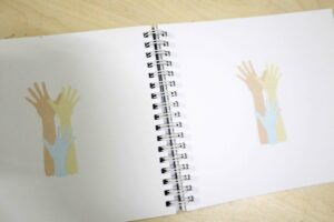 Plan International Philippines Raise Above Notebook #vjgraphicsprinting #offsetprinting #growthroughprint #notebooks — with Dubai Cares and Plan International Philippines