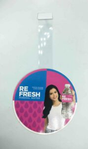 Re Fresh Mineral Water Wobblers #vjgraphicsprinting #growthroughprint #offsetprinting #wobblers — with Refresh Mineral Water in Quezon City, Philippines