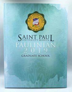 St. Paul University Manila Graduate School Yearbook #vjgraphicsprinting #growthroughprint #yearbook #offsetprinting #digitalprinting — with St. Paul University Manila in Quezon City, Philippines