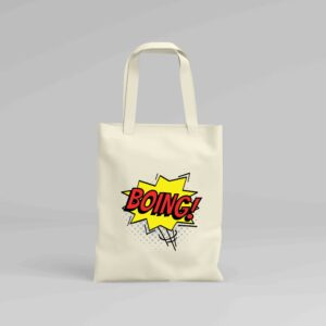 Canvas Tote Bag Boing!
