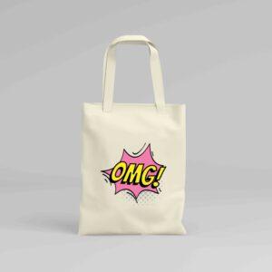 Canvas Tote Bag OMG!