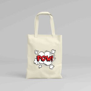 Canvas Tote Bag Pow!