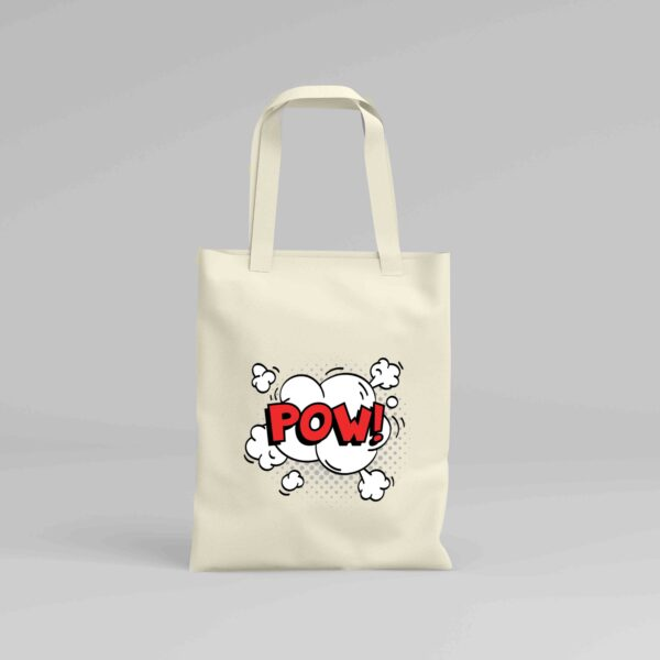 Canvas Tote Bag Pow!