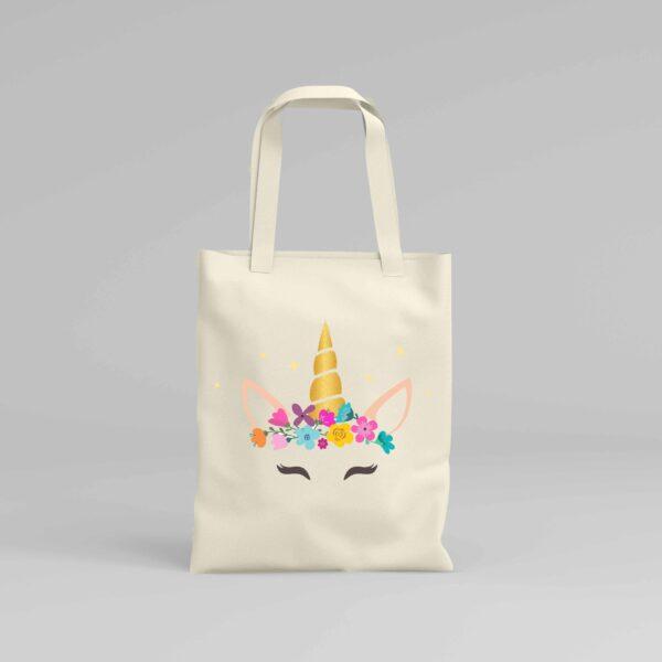 Canvas Tote Bag Unicorn 1