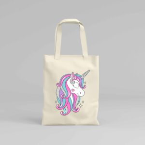 Canvas Tote Bag Unicorn 2