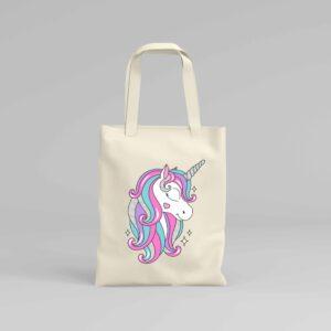 Canvas Tote Bag Unicorn 2