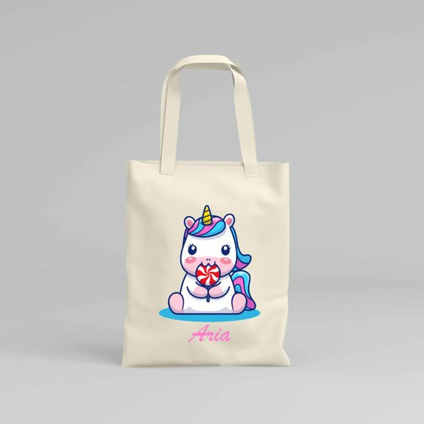 Canvas Tote Bag Unicorn 3