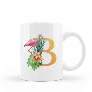 Mug Monogram Floral 1