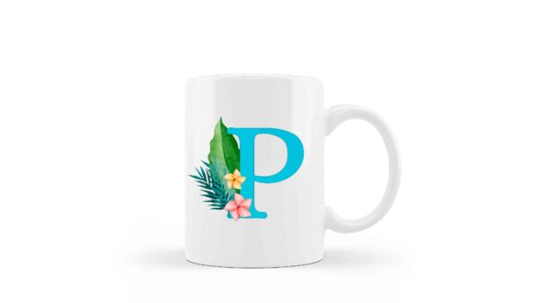 Mug Monogram Floral 2