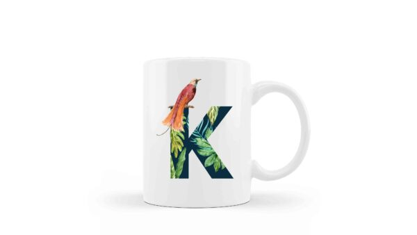 Ceramic Mug Monogram Floral 5