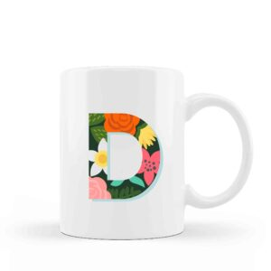 Ceramic Mug Monogram Floral 6