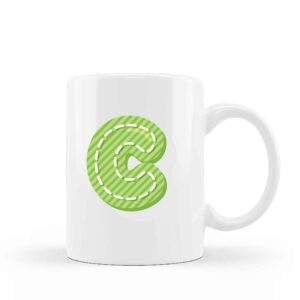 Ceramic Mug Monogram Kids 6
