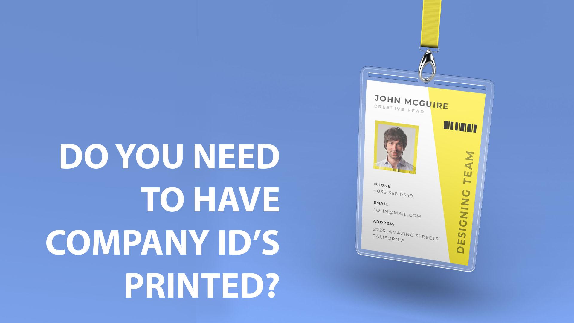 Company ID Banner