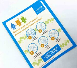 UNICEF Clean Hands Saves Lives Stickers #vjgraphicsprinting #offsetprinting #stickers #growthroughprint