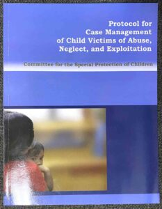 Department of Justice Protocol for Case Management of Child Victims of Abuse, Neglect and Exploitation Book #vjgraphicsprinting #offsetprinting #growthroughprint