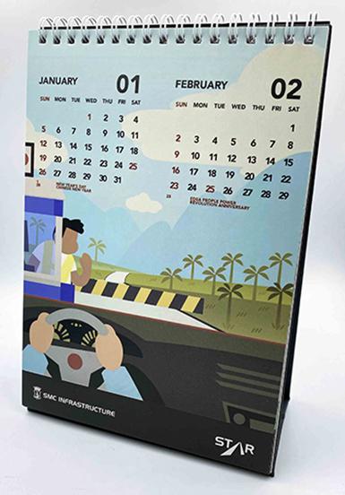 Desk Calendar Sample