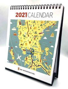 SMC Infrastructure 2021 Desk Calendar #vjgraphicsprinting #growthroughprint #deskcalendar #calendar #offsetprinting #digitalprinting