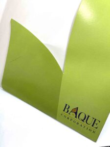 Baque Corporation Folder #vjgraphicsprinting #folder #offsetprinting #digitalprinting #growthroughprint #diecutting