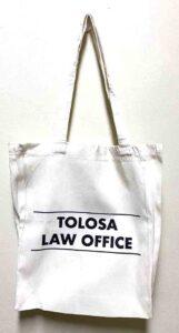 Tolosa Law Office Canvas Bag #vjgraphicsprinting #canvasbag #growthroughptin #heatpress