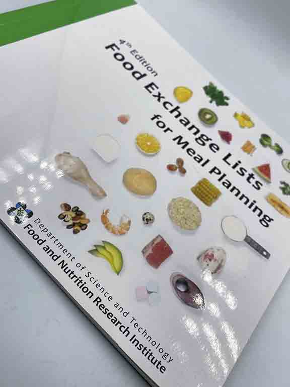 Food and Nutrition Research Institute Food Exchange Lists for Meal Planning Book #vjgraphicsprinting #growthroughprint #offsetprinting #digitalprinting #ipublishph #printityourway