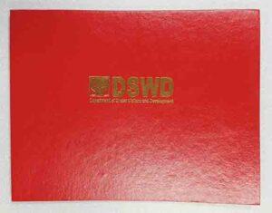 DSWD Certificate Holder #vjgraphicsprinting #offsetprinting #digitalprinting #growthroughprint #certificates #certificateholder #goldstamping #ipublishph #printityourway