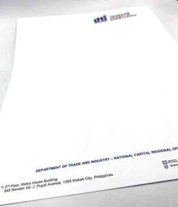 DTI NCR Letterhead #vjgraphicsprinting #offsetprinting #growthroughprint #digitalprinting #letterhead