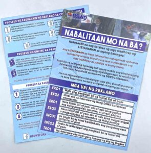 DSWD Listahan Flyers #vjgraphicsprinting #growthroughprint #iPublishPH #printityourway #flyers #offsetprinting #digitalprinting