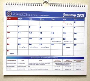 Professional Regulation Commission Wall Calendar #vjgraphicsprinting #GrowThroughPrint #iPublishPH #PrintItYourWay #offsetprinting #digitalprinting