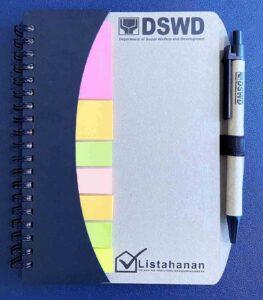Department of Social Welfare and Development DSWD Listahan Notebook and Pen #vjgraphicsprinting #growthroughprint #ipublishph #printityourway #offsetprinting #uvprinting #digitalprinting #stickynotes