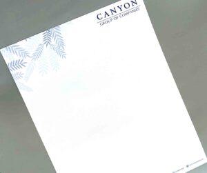 Canyon Group of Companies Letterhead #vjgraphicsprinting #printityourway #growthroughprint #printityourway #offsetprinting #digitalprinting