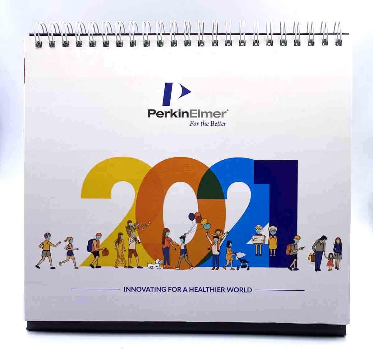 Perkin Elmer Desk Calendar