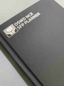 DSWD NCR Department of Social Welfare and Development SFP Planner #vjgraphicsprinting #growthroughprint #ipublishph #printityourway #planner #notebook #offsetprinting #digitalprinting #hotstampingfoil