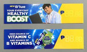 B'lue Philippines B'lue Price Strips #vjgraphicsprinting #growthroughprint #ipublishph #PrintItYourWay #offsetprinting #digitalprinting