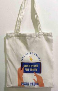 Plan International Philippines Plan Philippines Girls Get Equal Canvas Tote Bag #vjgraphicsprinting #growthroughprint #ipublishph #PrintItYourWay #sublimationprinting #sublimation #digitalprinting
